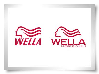 wella logo redesign photoshop design retoque logótipo cabelos shampoos