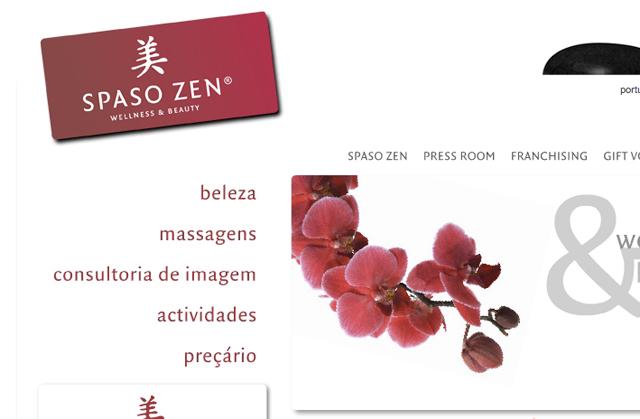 criação de web site para a Spaso Zen